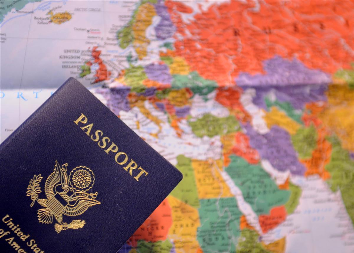 Passport with Map